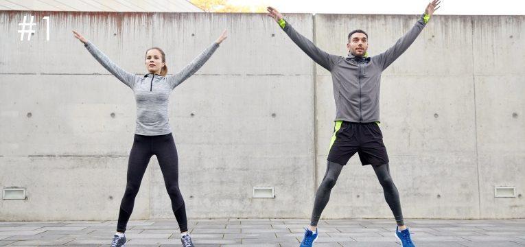 treino de 20 intensivos jumping jacks
