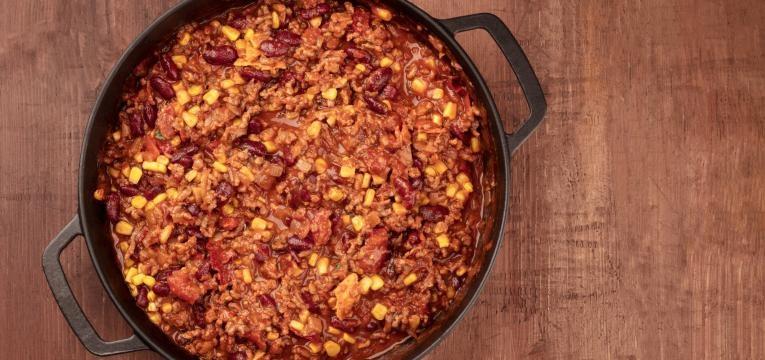 chili na bimby vegan com seitan