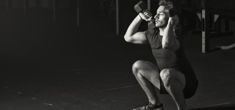 exercicios para queimar gordura thruster com halteres