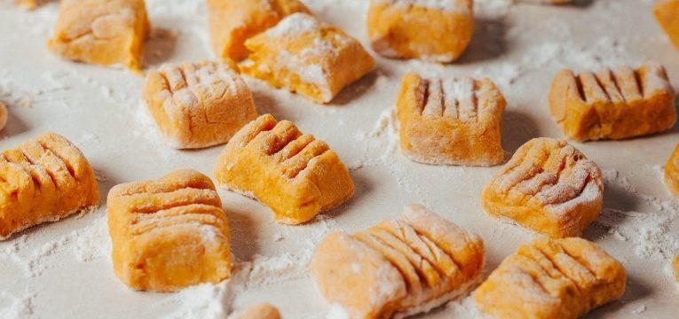 gnocchi de batata doce massa de gnocchi