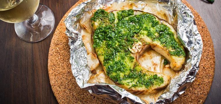 receitas em papelote: pescada