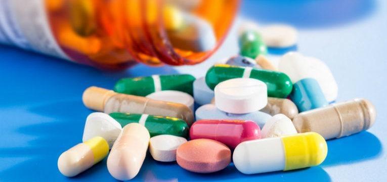 medicamentos no frasco