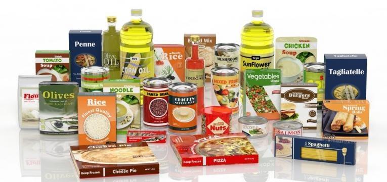 alimentos embalados e processados