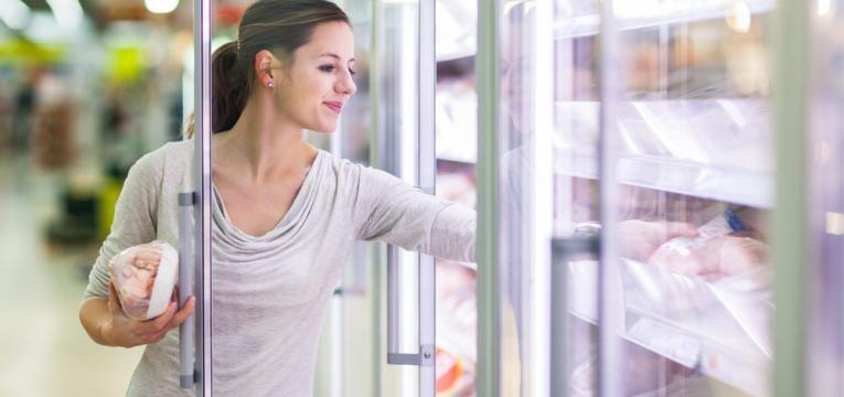 alimentos frescos ou congelados
