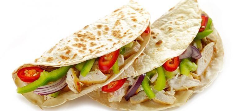 Tacos saudaveis de farinha de arroz e linhaca