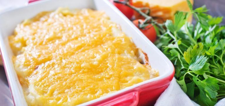 Bacalhau com natas e pure de batatas