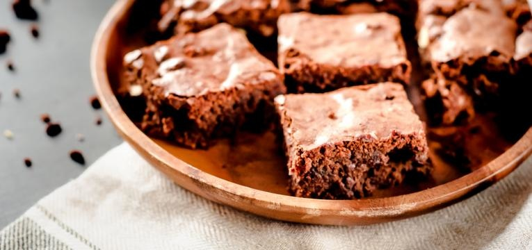 Brownie de alfarroba
