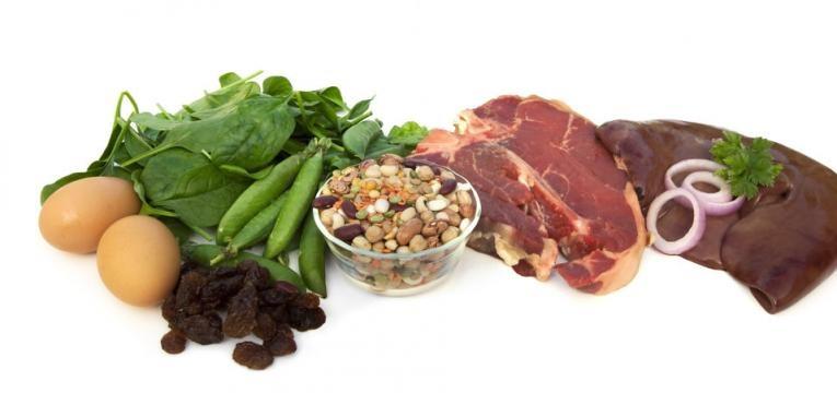 alimentos fonte de ferro