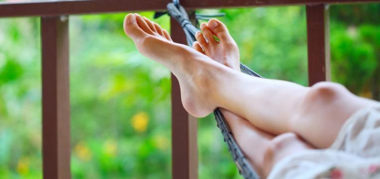 descansar as pernas