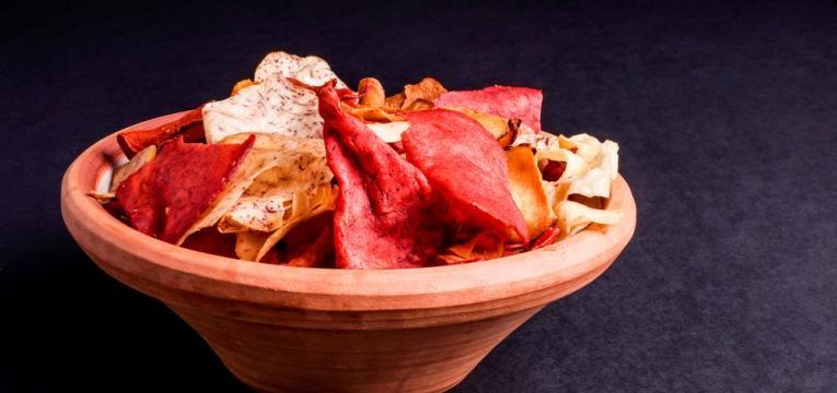 Snacks de legumes e Chips de legumes