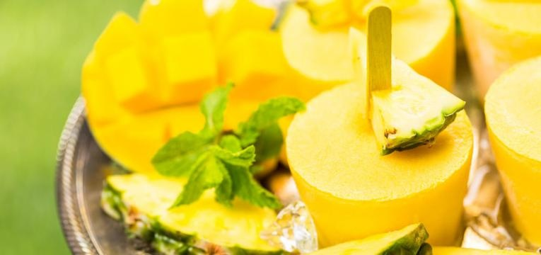 Gelado de ananas