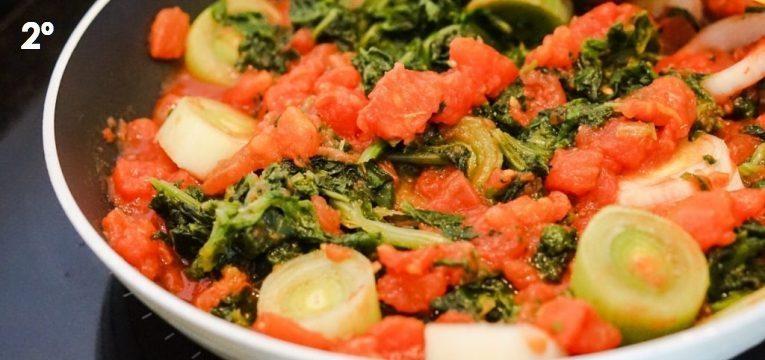 massa de vegetais com requeijao 2 passo