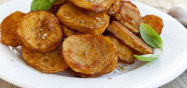 Rodelas de batata-doce assada