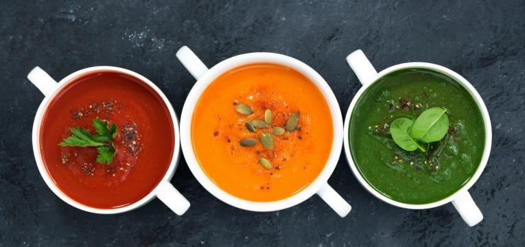 variedade de sopas
