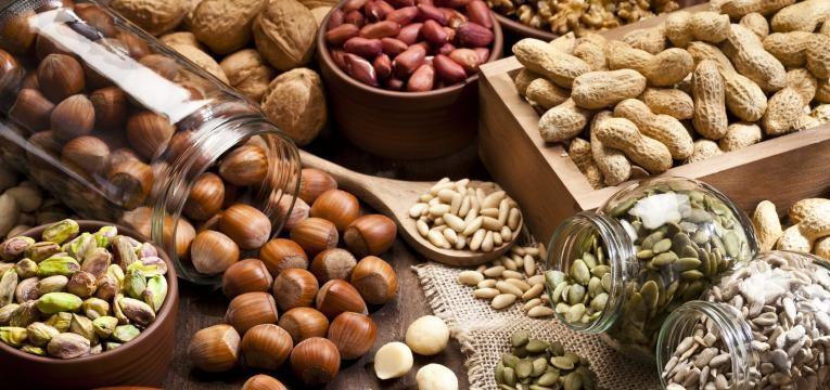 lista de compras frutos secos e sementes