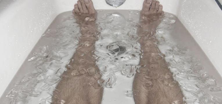 banhos de gelo