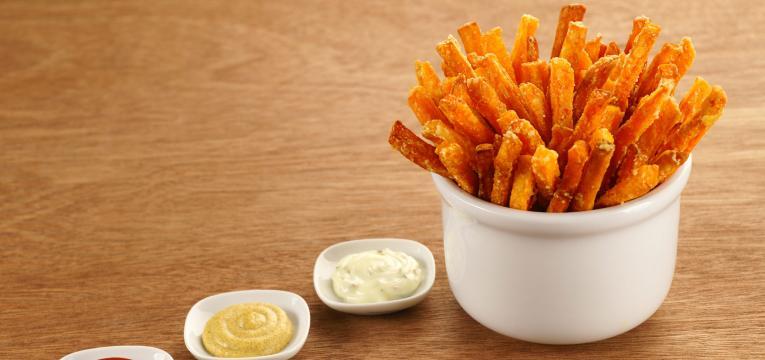 batata-doce frita no forno