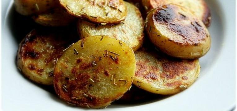 batata-doce grelhada com alecrim