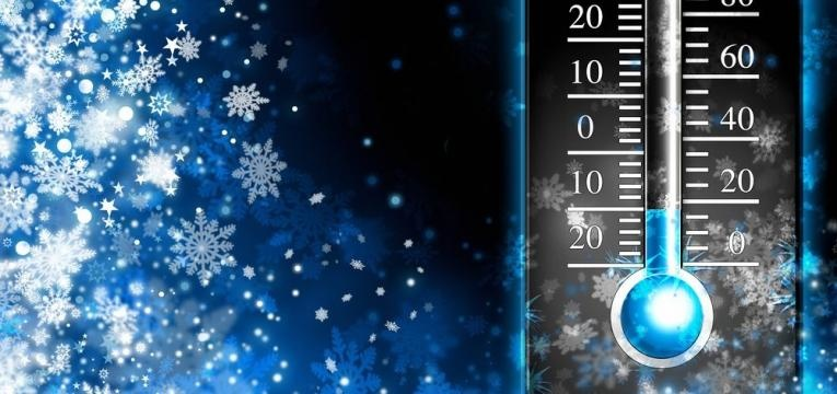 termometro com temperatura negativa