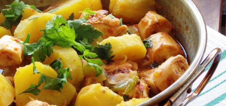 Salada de polvo com batata doce