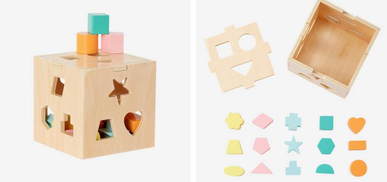 caixa com formas