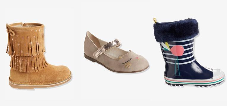 calçado menina vertbaudet