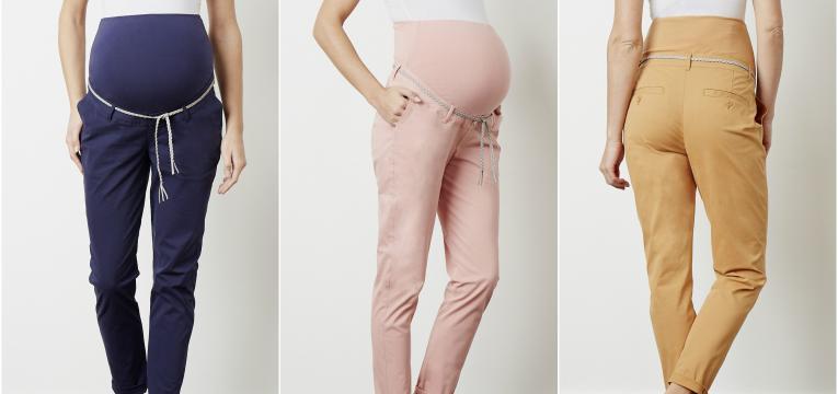 calças chino em roupa pré mamã