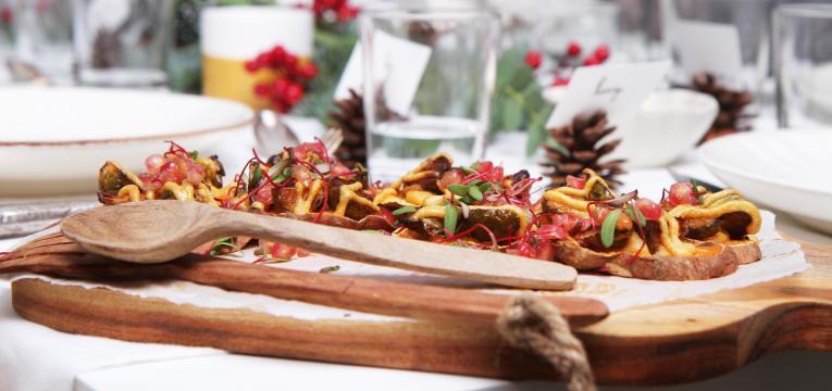 canapés de batata-doce