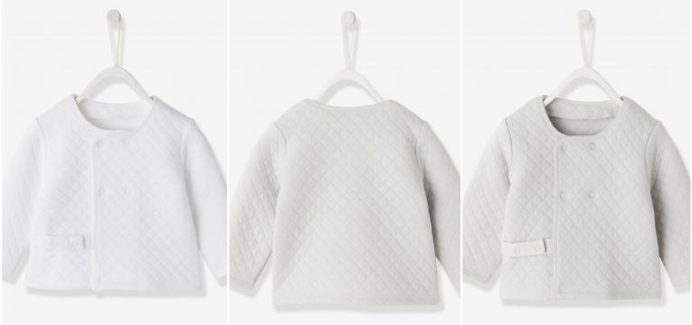 casaco com moletão em roupa de algodão biológica para bebé