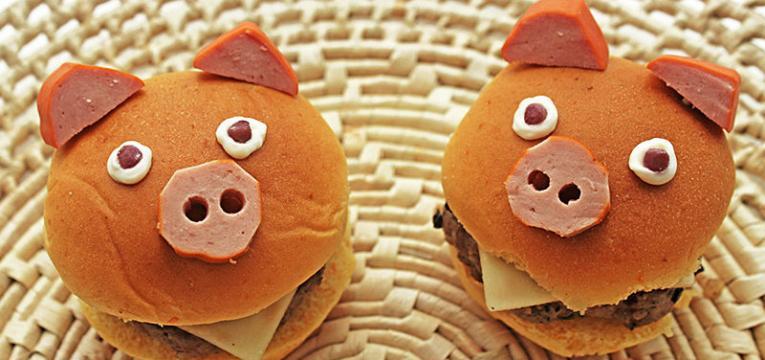 hamburguer de porquinho