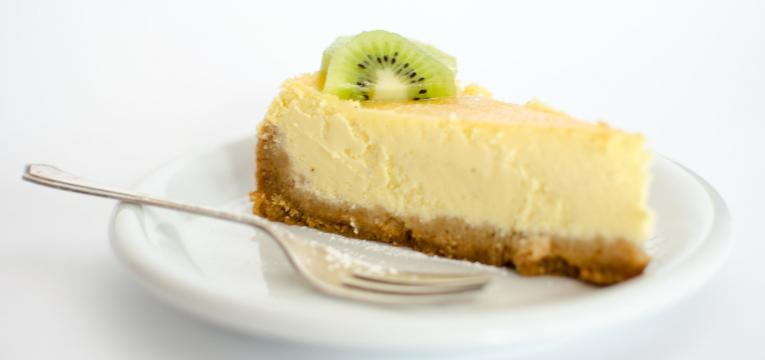 cheesecake de kiwi e limão