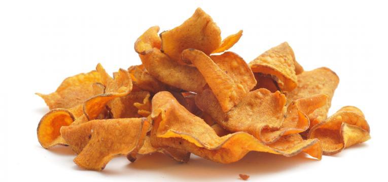 chips de batata-doce picante