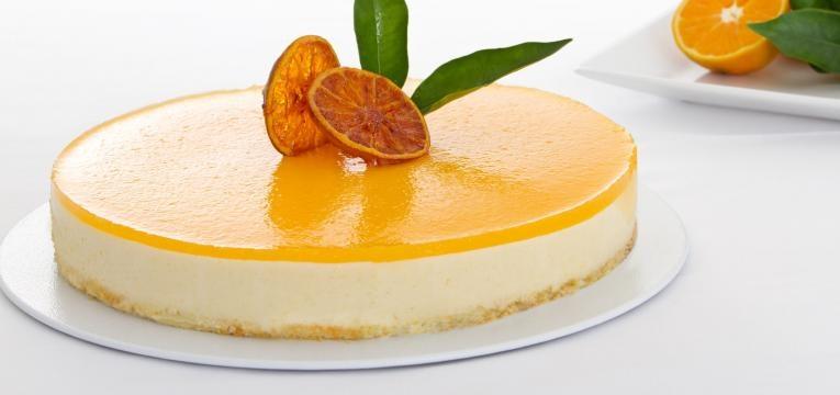 Cheesecake na Bimby sabor a laranja