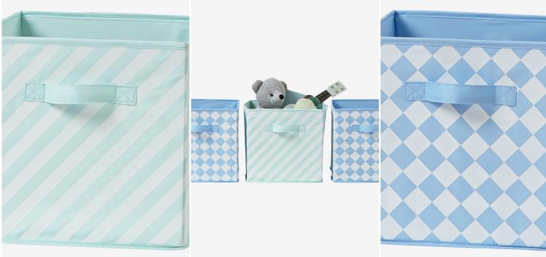conjunto 3 caixas arrumacao para menino