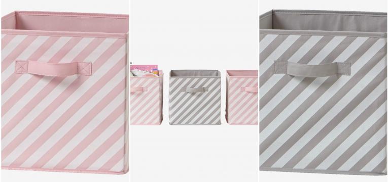 conjunto de 3 caixas de arrumacao para menina
