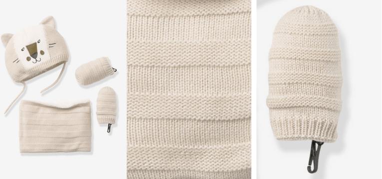 conjunto gorro tricot