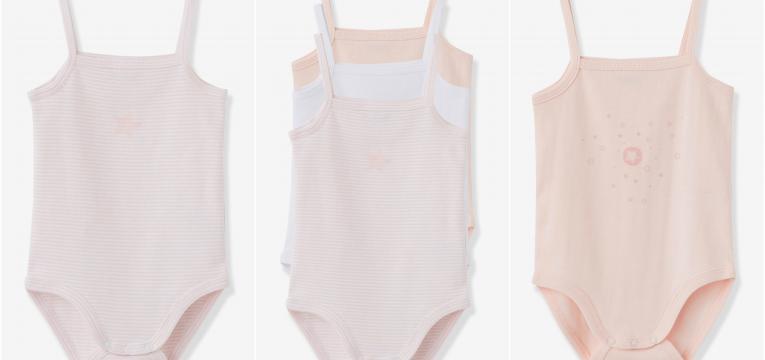 conjuntos tres bodies e presentes para baby shower de menina