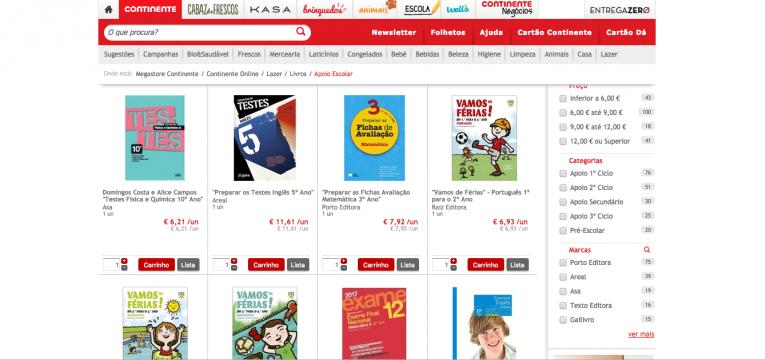 livros escolares online continente online