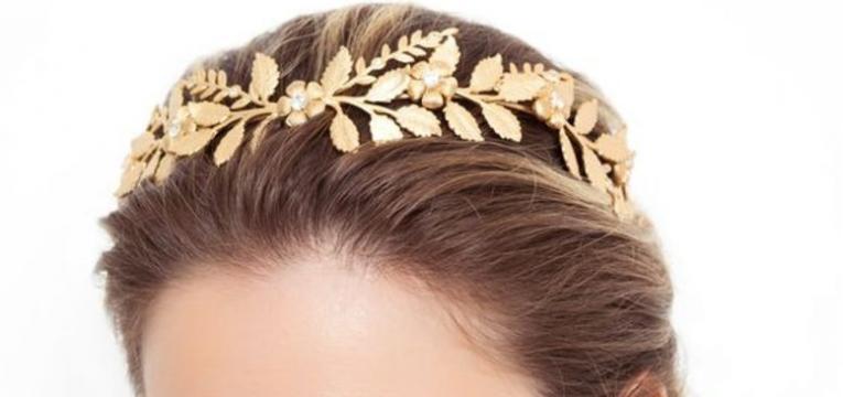 fita ou coroa folhagem dourada