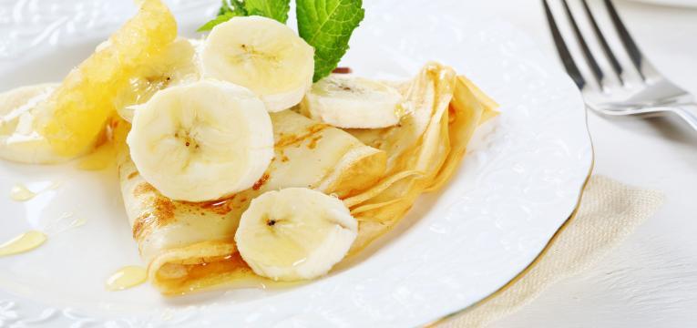 crepioca light com banana e mel