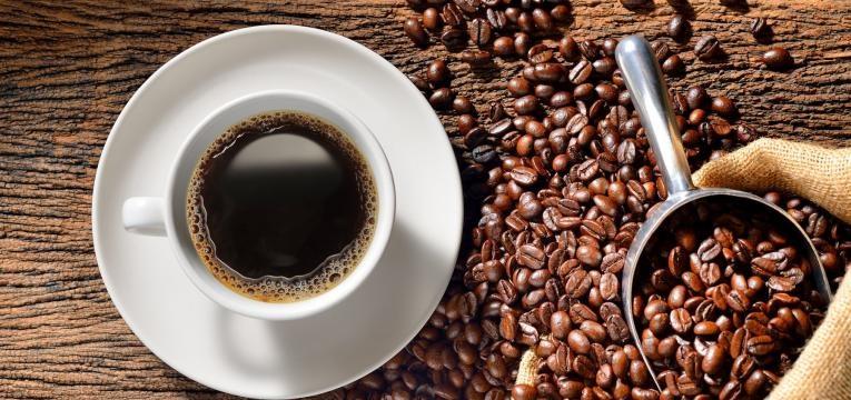 cafe e graos de cafe