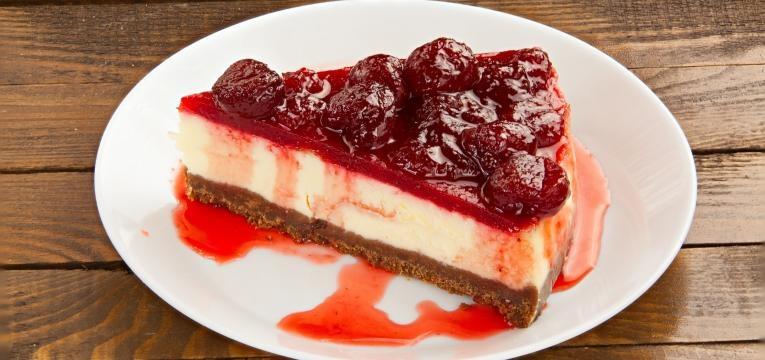 Cheesecake na Bimby saudavel sabor a morango
