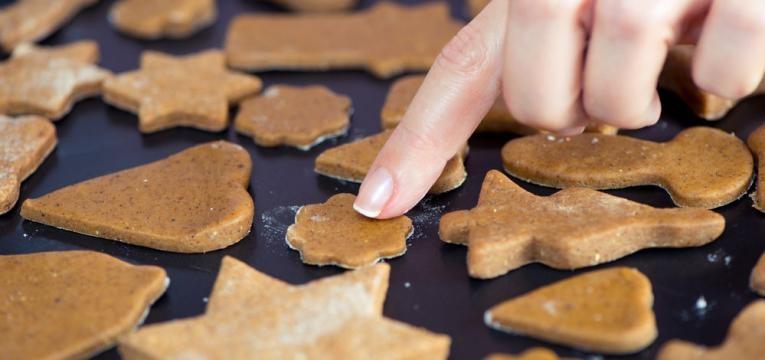 Biscoitos de Natal saudaveis