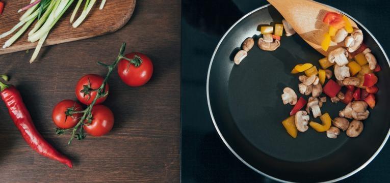 como cozinhar alimentos e saltear legumes