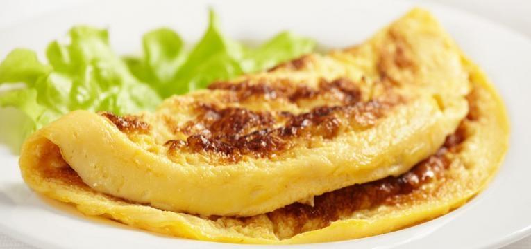 Omelete proteico com claras