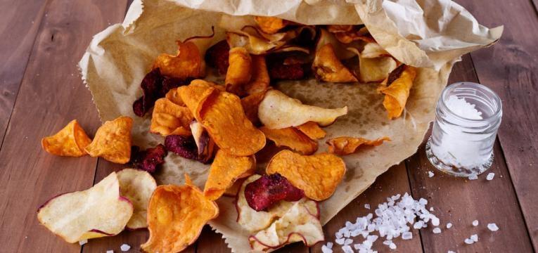 chips de vegetais