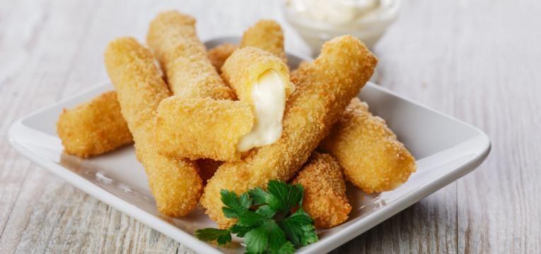 Palitos de queijo fritos