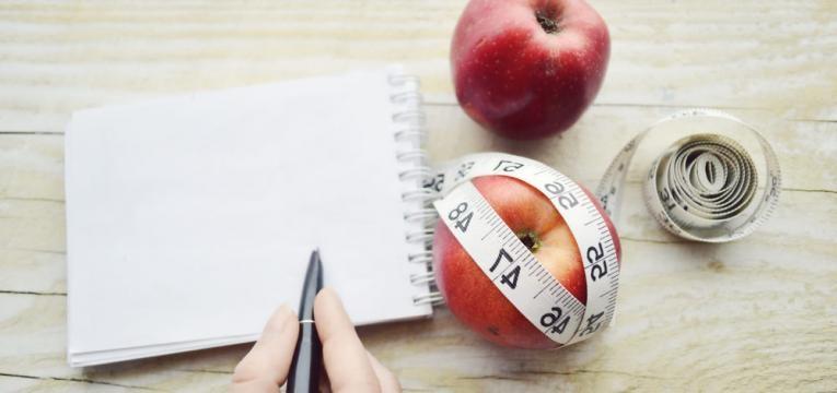 tirar notas sobre a dieta