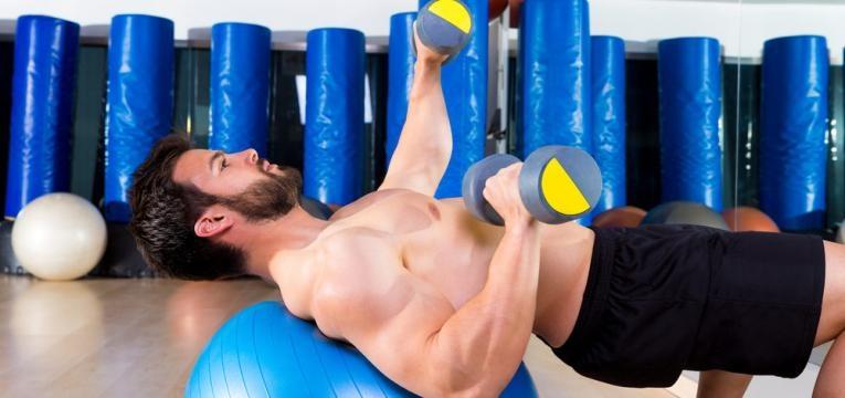 treino funcional e exercicios na bola de pilates