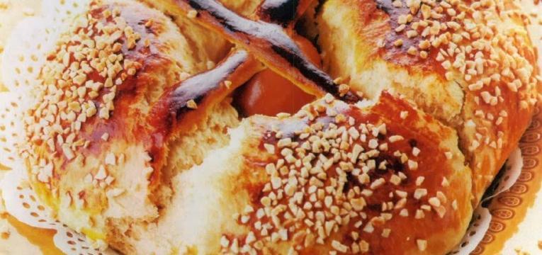 folar da pascoa com amendoa laminada